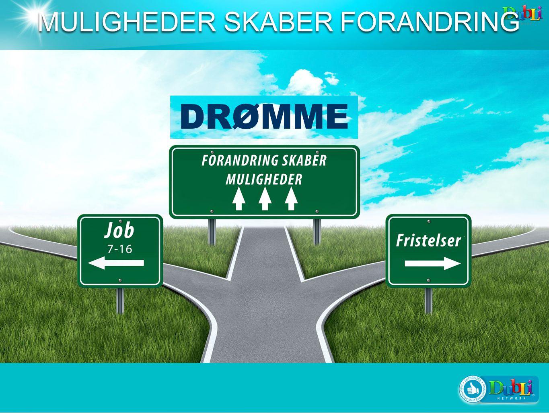 DRØMME MULIGHEDER SKABER FORANDRING