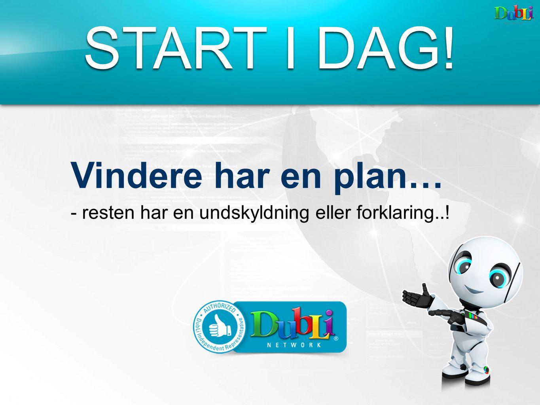 START I DAG! Vindere har en plan… - resten har en undskyldning eller forklaring..!