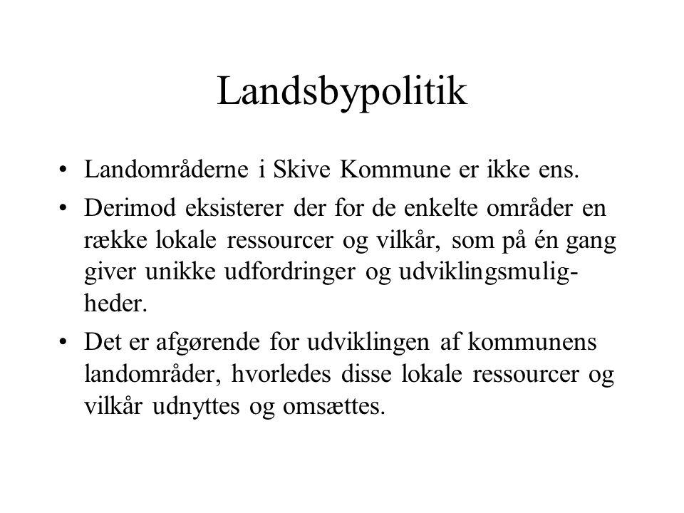 Landsbypolitik Landområderne i Skive Kommune er ikke ens.