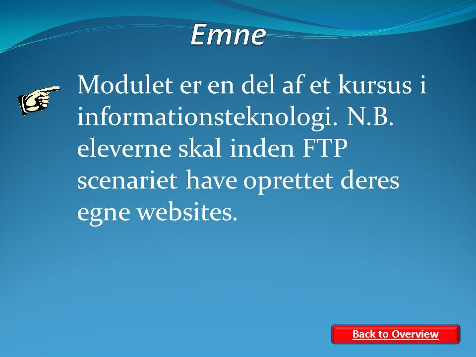 Modulet er en del af et kursus i informationsteknologi.