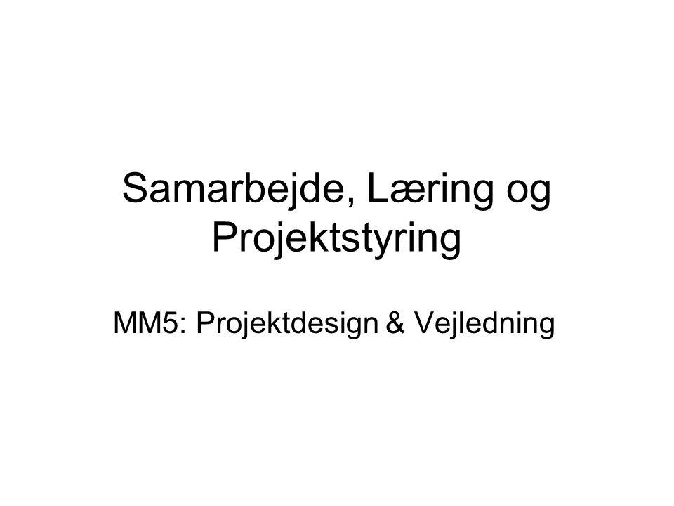 Samarbejde, Læring og Projektstyring MM5: Projektdesign & Vejledning