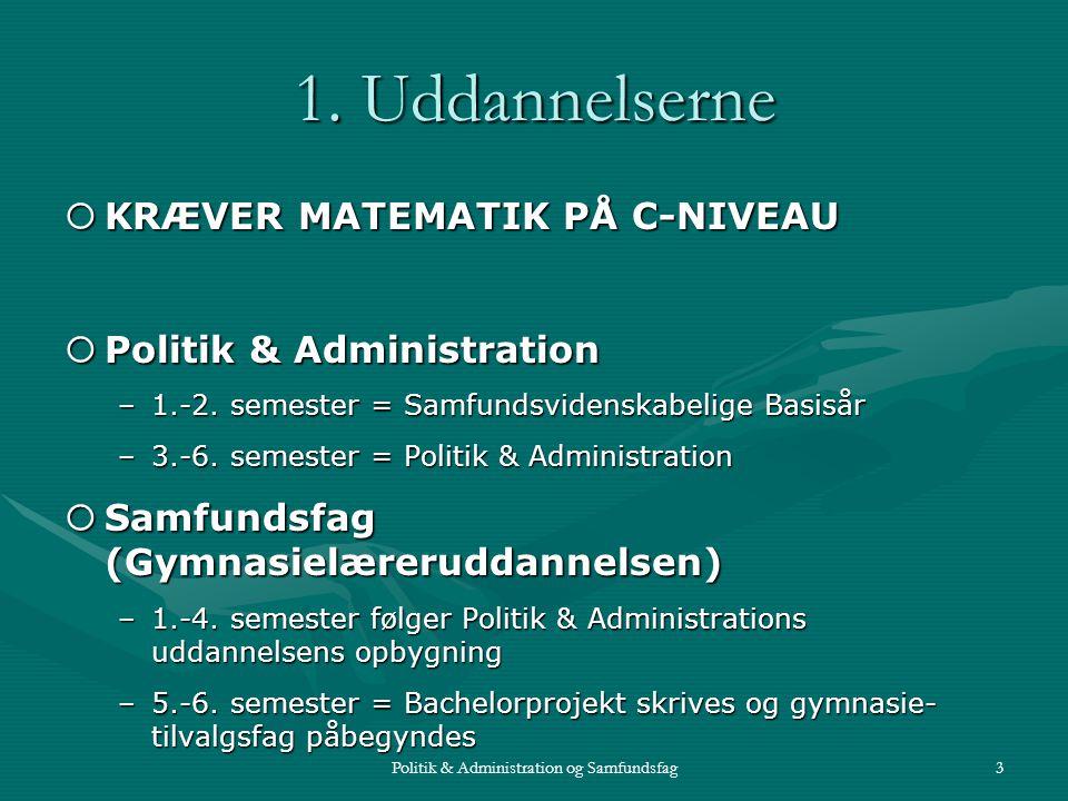 Politik & Administration og Samfundsfag3 1.