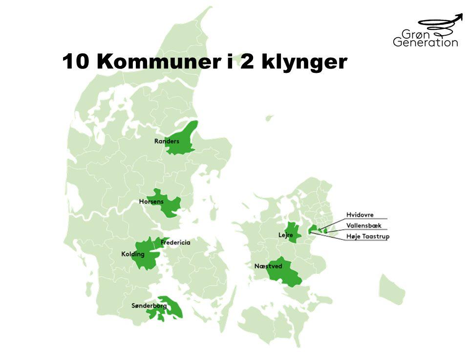 10 Kommuner i 2 klynger