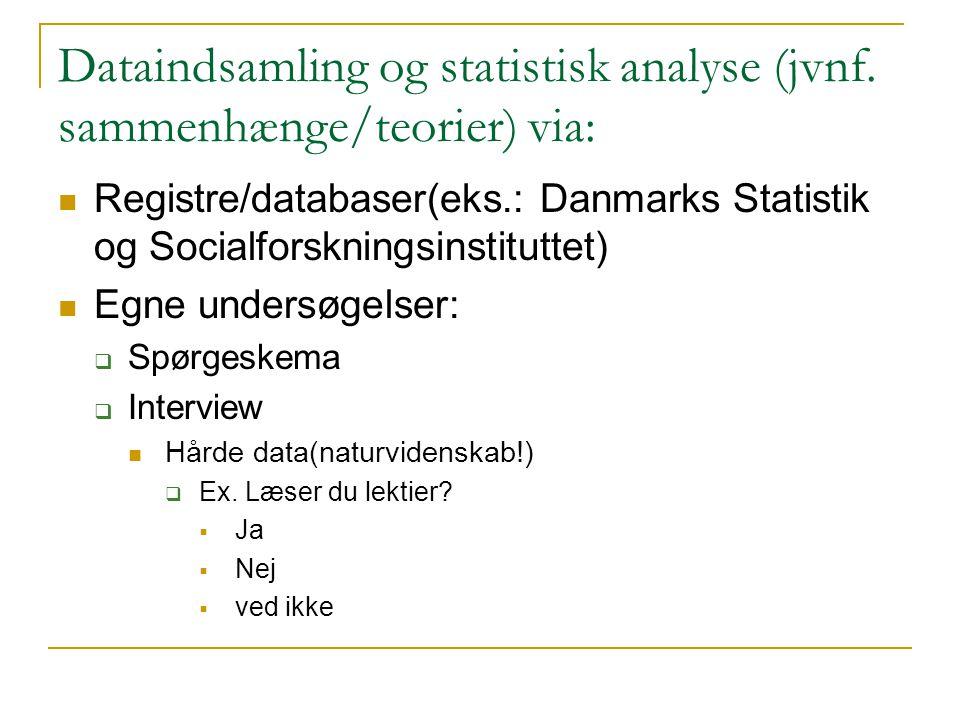 Dataindsamling og statistisk analyse (jvnf.