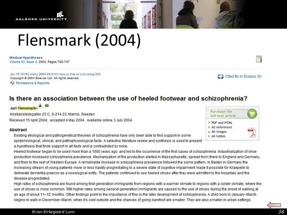 Flensmark (2004) 36 Brian Kirkegaard Lunn