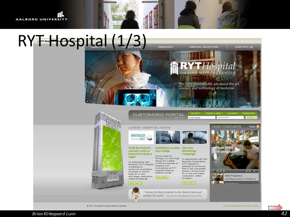 RYT Hospital (1/3) Brian Kirkegaard Lunn 42