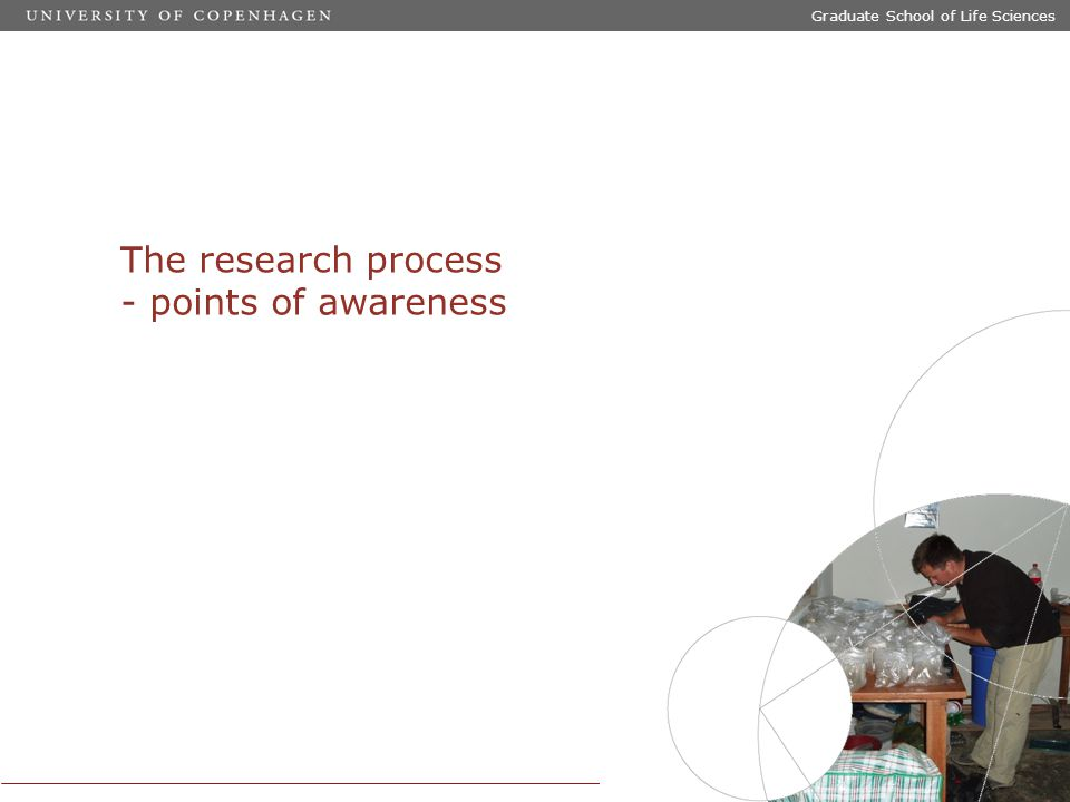 Graduate School of Life Sciences The research process - points of awareness