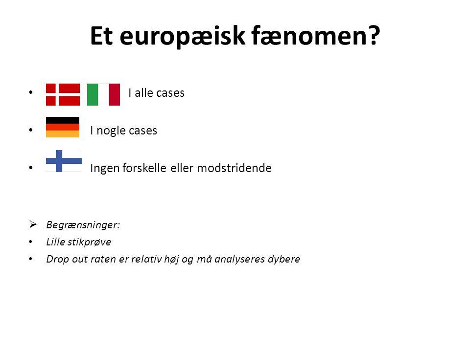 Et europæisk fænomen.