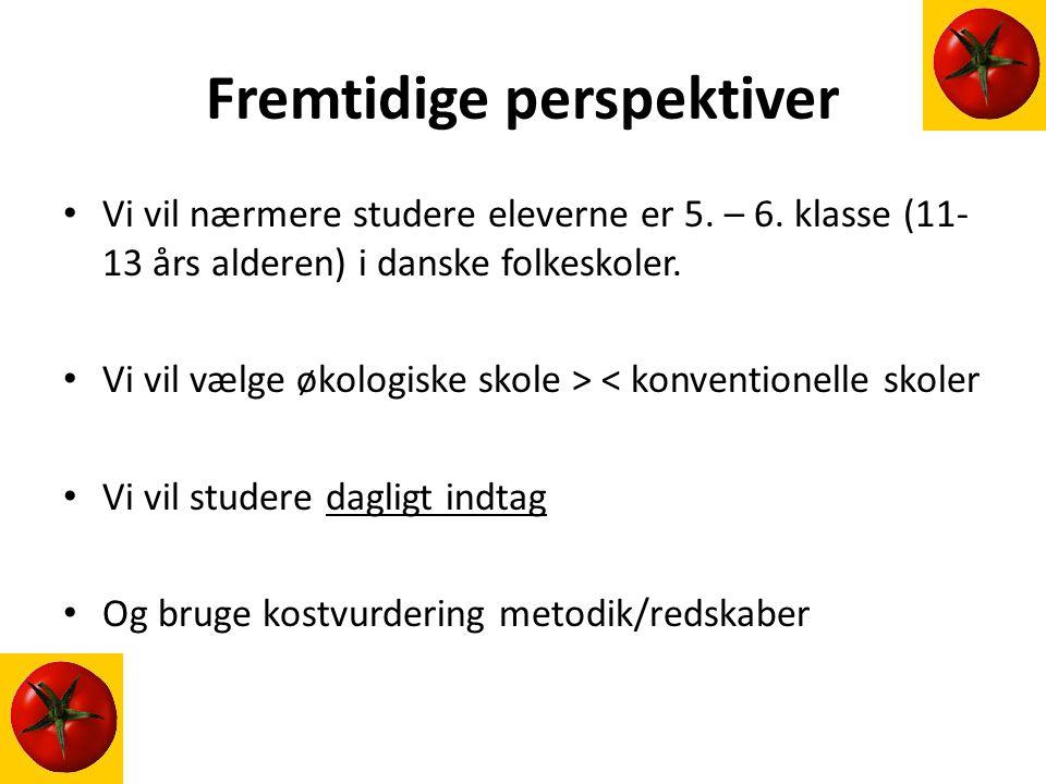 Fremtidige perspektiver Vi vil nærmere studere eleverne er 5.