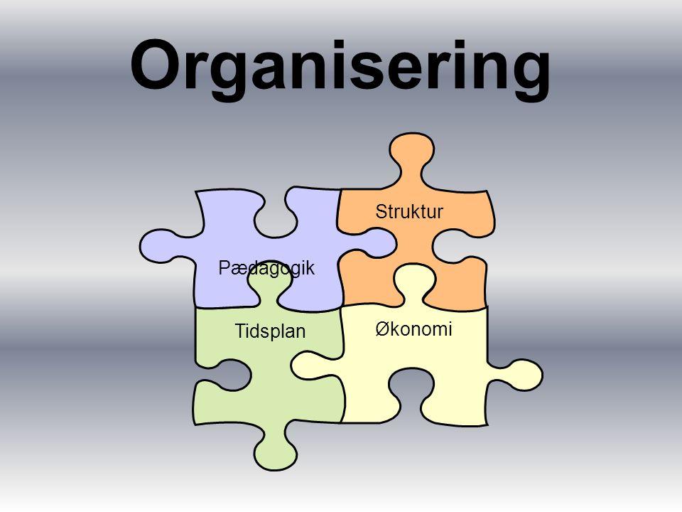 Organisering Struktur Økonomi Tidsplan Pædagogik