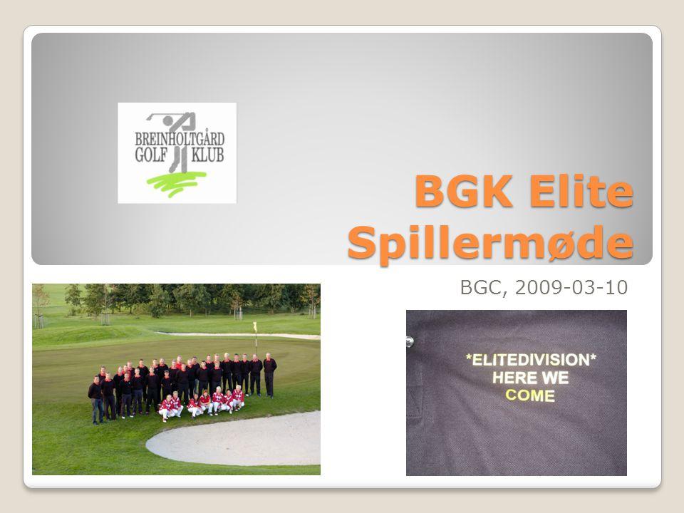 BGK Elite Spillermøde BGC, 2009-03-10