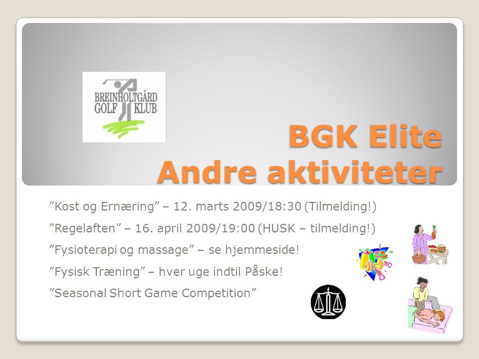BGK Elite Andre aktiviteter Kost og Ernæring – 12.