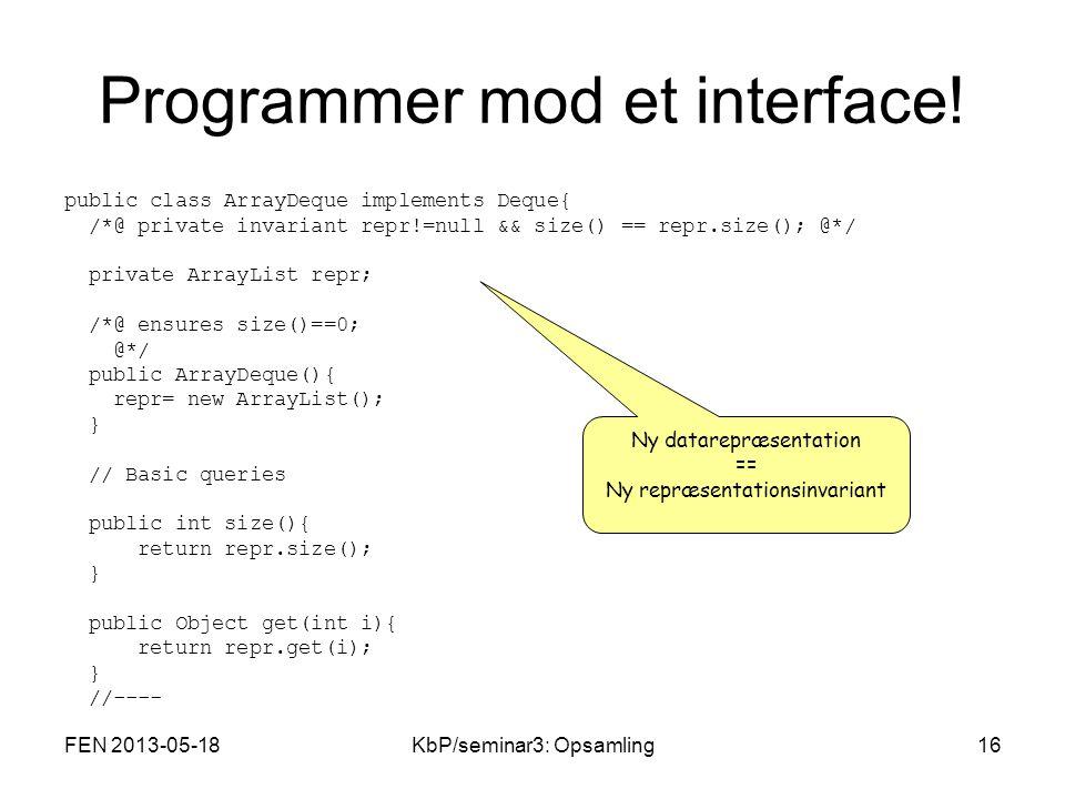 Programmer mod et interface.