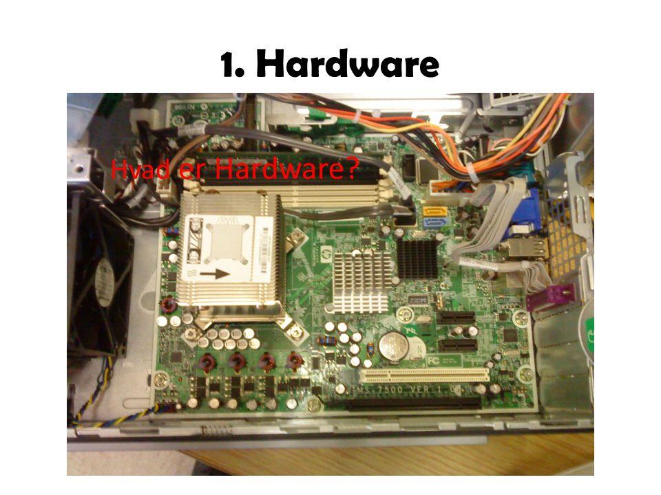 1. Hardware Hvad er Hardware