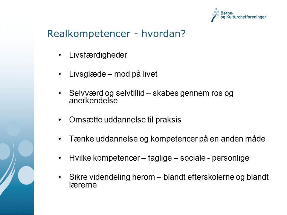 Realkompetencer - hvordan.