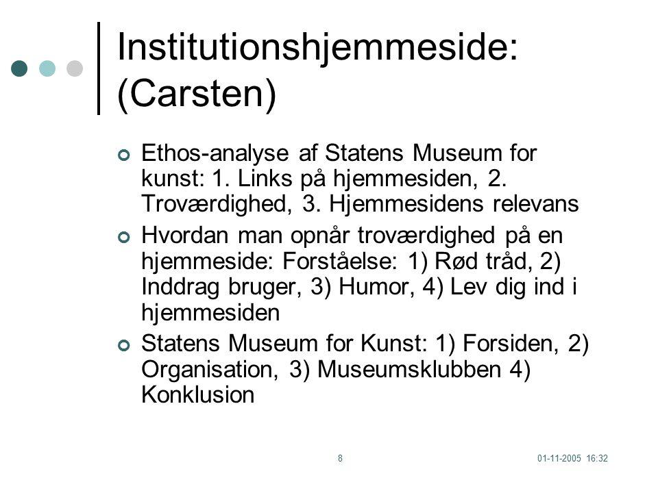 01-11-2005 16:328 Institutionshjemmeside: (Carsten) Ethos-analyse af Statens Museum for kunst: 1.