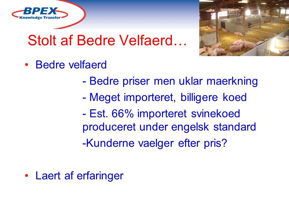Stolt af Bedre Velfaerd… Bedre velfaerd - Bedre priser men uklar maerkning - Meget importeret, billigere koed - Est.