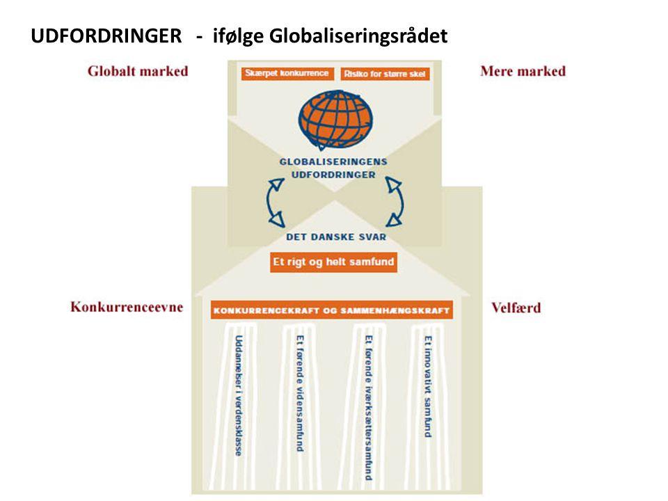 UDFORDRINGER - ifølge Globaliseringsrådet