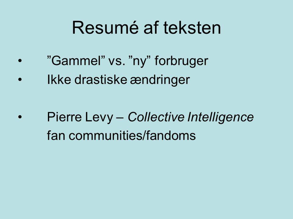 Resumé af teksten Gammel vs.
