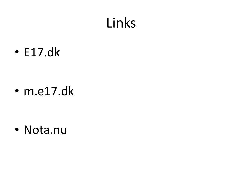 Links E17.dk m.e17.dk Nota.nu