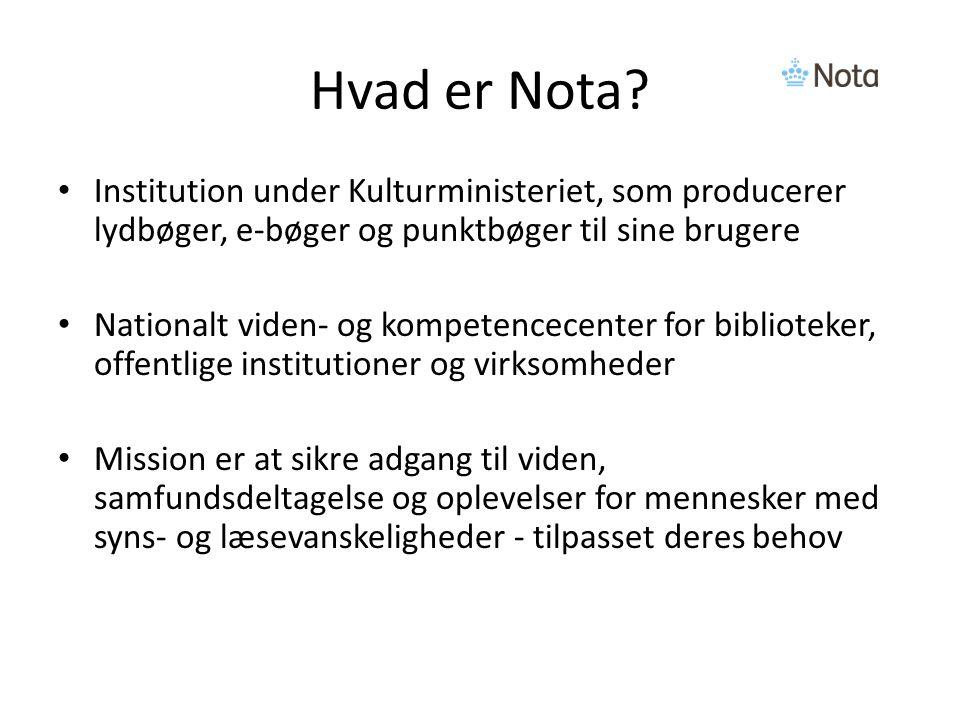 Hvad er Nota.