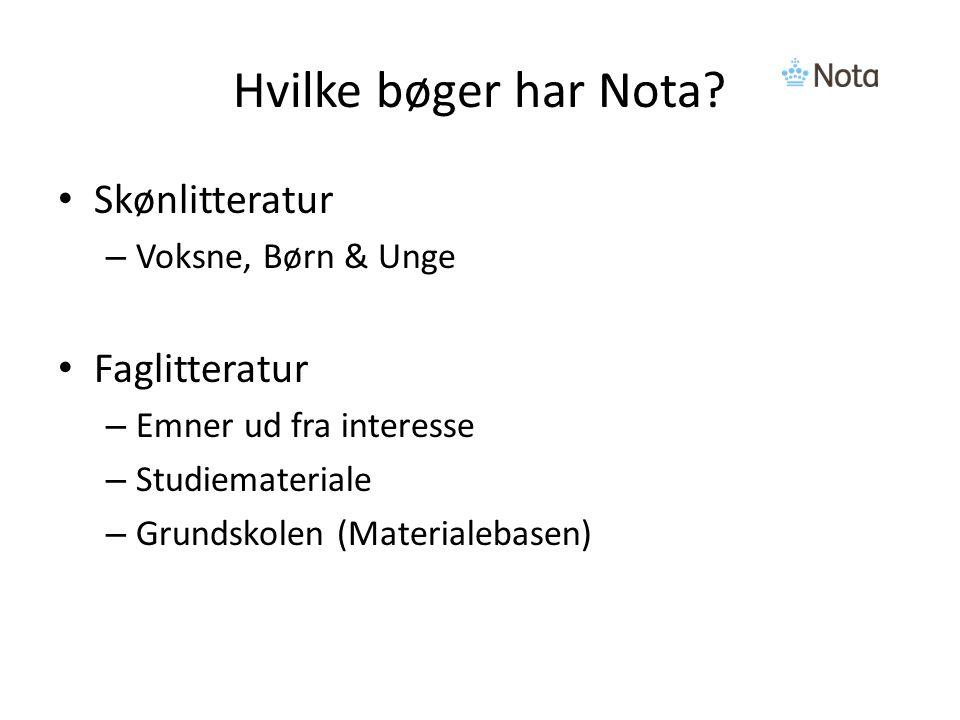 Hvilke bøger har Nota.