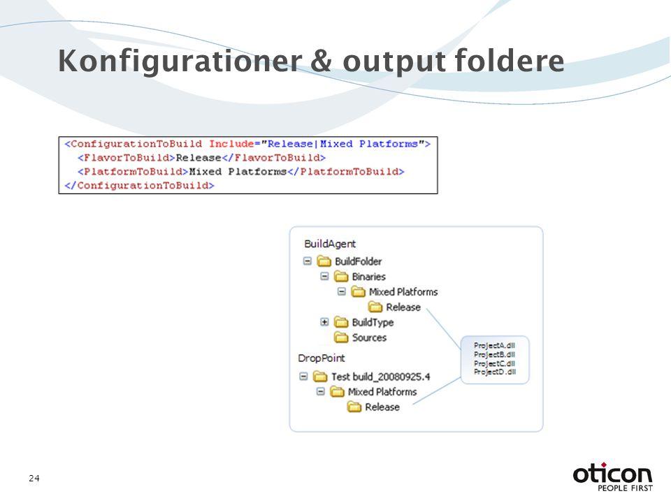 Konfigurationer & output foldere 24