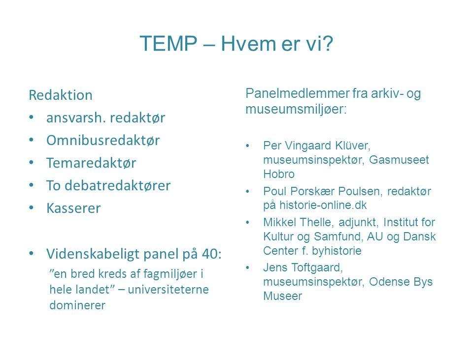 TEMP – Hvem er vi. Redaktion ansvarsh.