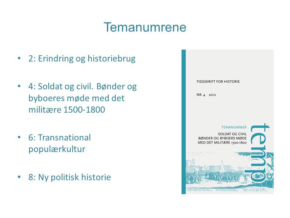 Temanumrene 2: Erindring og historiebrug 4: Soldat og civil.