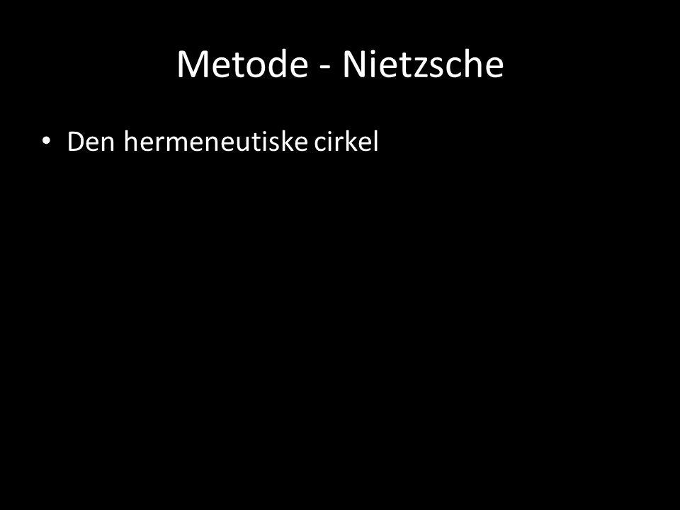 Metode - Nietzsche Den hermeneutiske cirkel