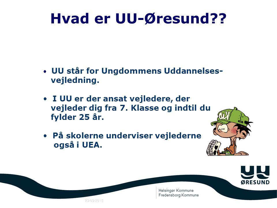 Helsingør Kommune Fredensborg Kommune 23-03-2015 UU-ØRESUND Fredensborg og Helsingør Kommuner