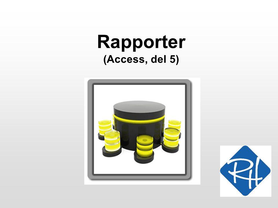 Rapporter (Access, del 5)