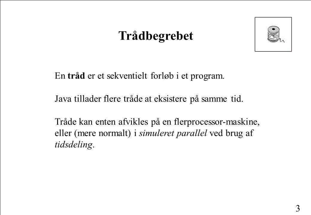3 En tråd er et sekventielt forløb i et program.