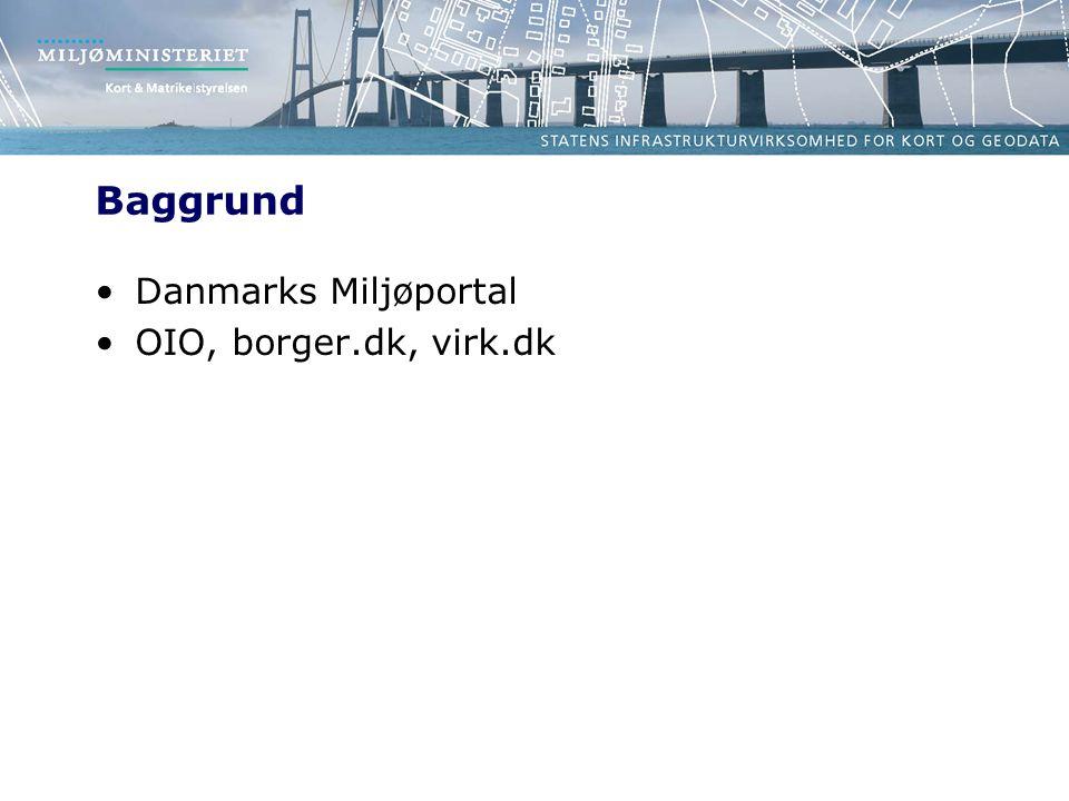 Baggrund Danmarks Miljøportal OIO, borger.dk, virk.dk