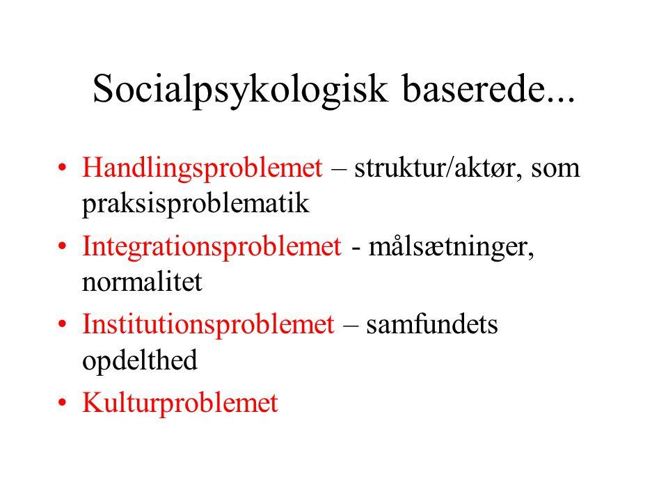 Socialpsykologisk baserede...