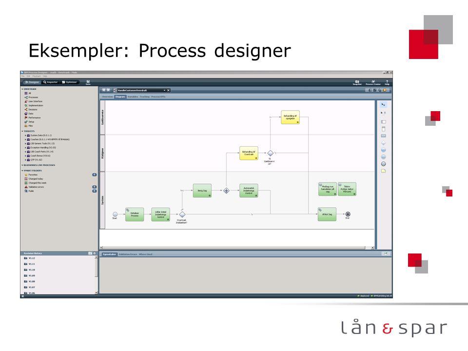 Eksempler: Process designer