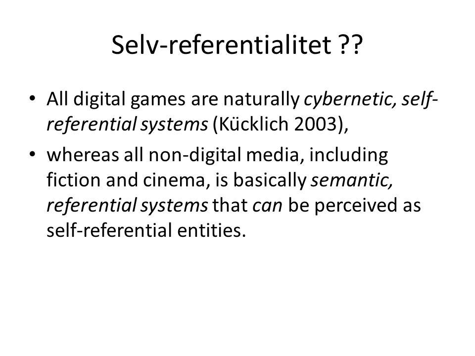 Selv-referentialitet .