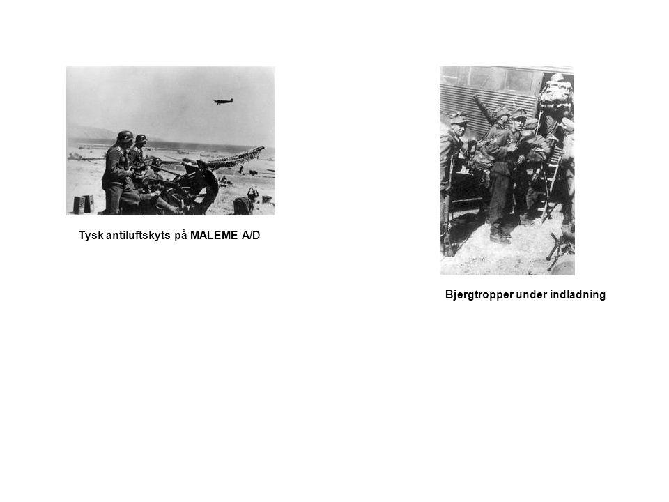 Tysk antiluftskyts på MALEME A/D Bjergtropper under indladning