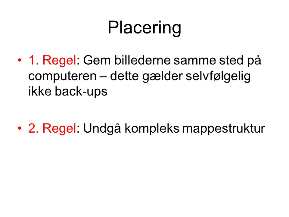 Placering 1.