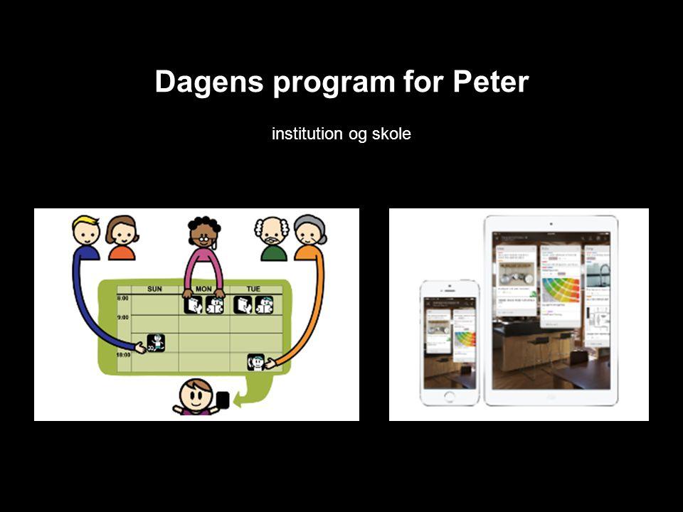 Dagens program for Peter institution og skole