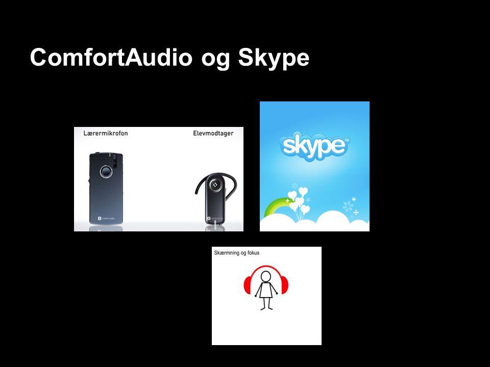 ComfortAudio og Skype