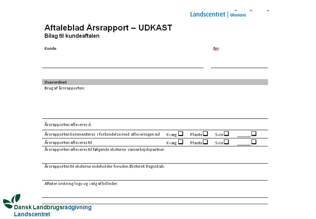 Dansk Landbrugsrådgivning Landscentret Bud på en aftale - værktøjet