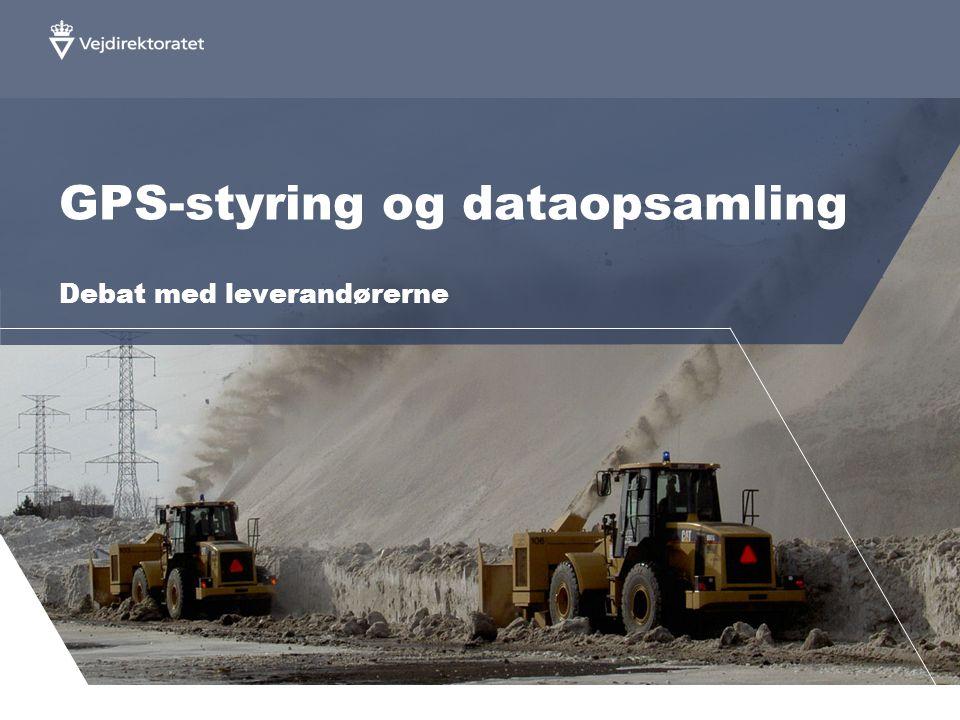 GPS-styring og dataopsamling Debat med leverandørerne
