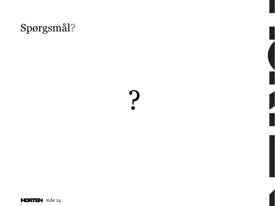side 14 Spørgsmål