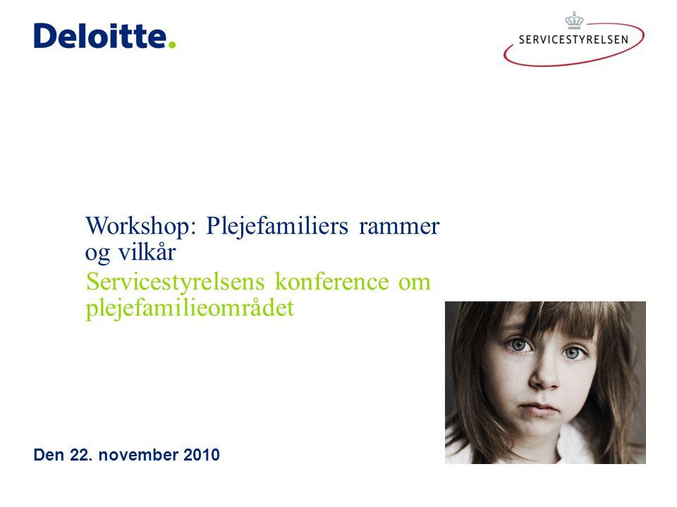 Workshop: Plejefamiliers rammer og vilkår Den 22.