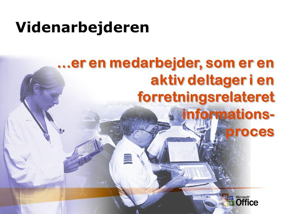 Videnarbejderen...er en medarbejder, som er en aktiv deltager i en forretningsrelateret informations- proces...er en medarbejder, som er en aktiv deltager i en forretningsrelateret informations- proces