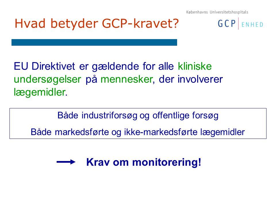 Hvad betyder GCP-kravet.