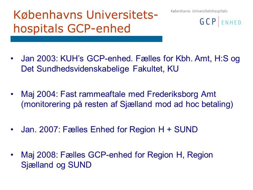 Københavns Universitets- hospitals GCP-enhed Jan 2003: KUH's GCP-enhed.