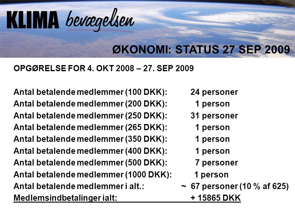 OPGØRELSE FOR 4. OKT 2008 – 27.