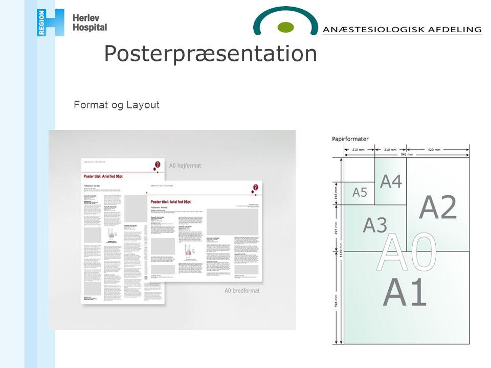 Format og Layout Posterpræsentation